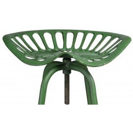 Pair of Industrial Tractor Bar Stools - Green