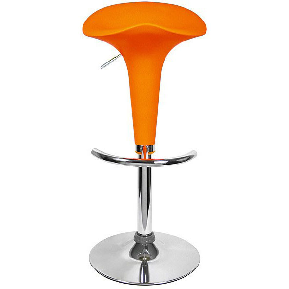 Pod Bar Stool - Orange
