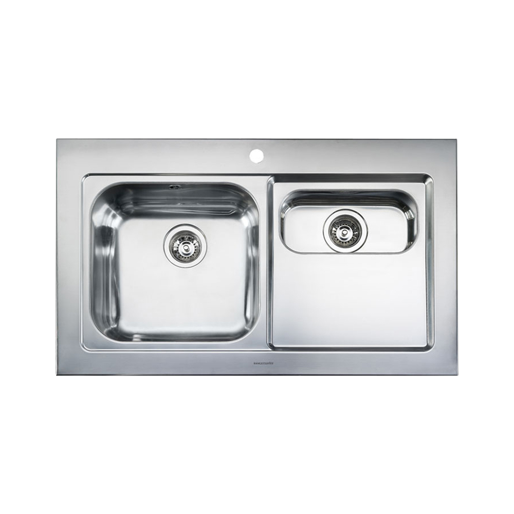 Rangemaster Mezzo 1.5 Bowl Stainless Steel Kitchen Sink - Right Handed