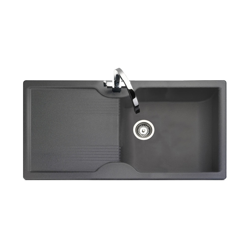 Rangemaster Lunar 1.0 Bowl Granite Kitchen Sink - Granite Grey