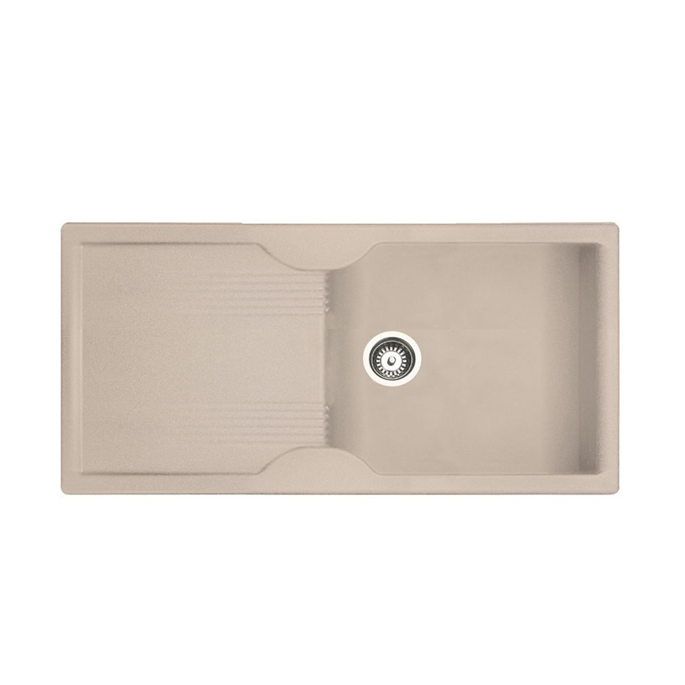 Rangemaster Lunar 1.0 Bowl Granite Kitchen Sink - Granite Oatmeal