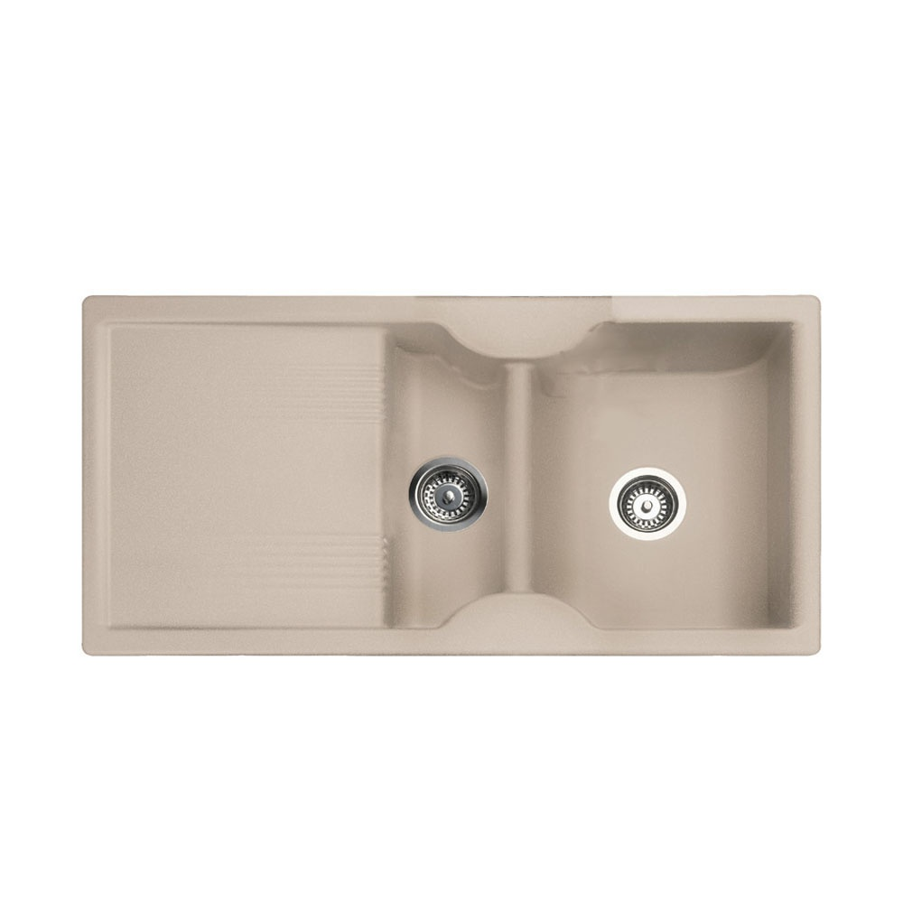 Rangemaster Lunar 1.5 Bowl Granite Kitchen Sink - Granite Oatmeal