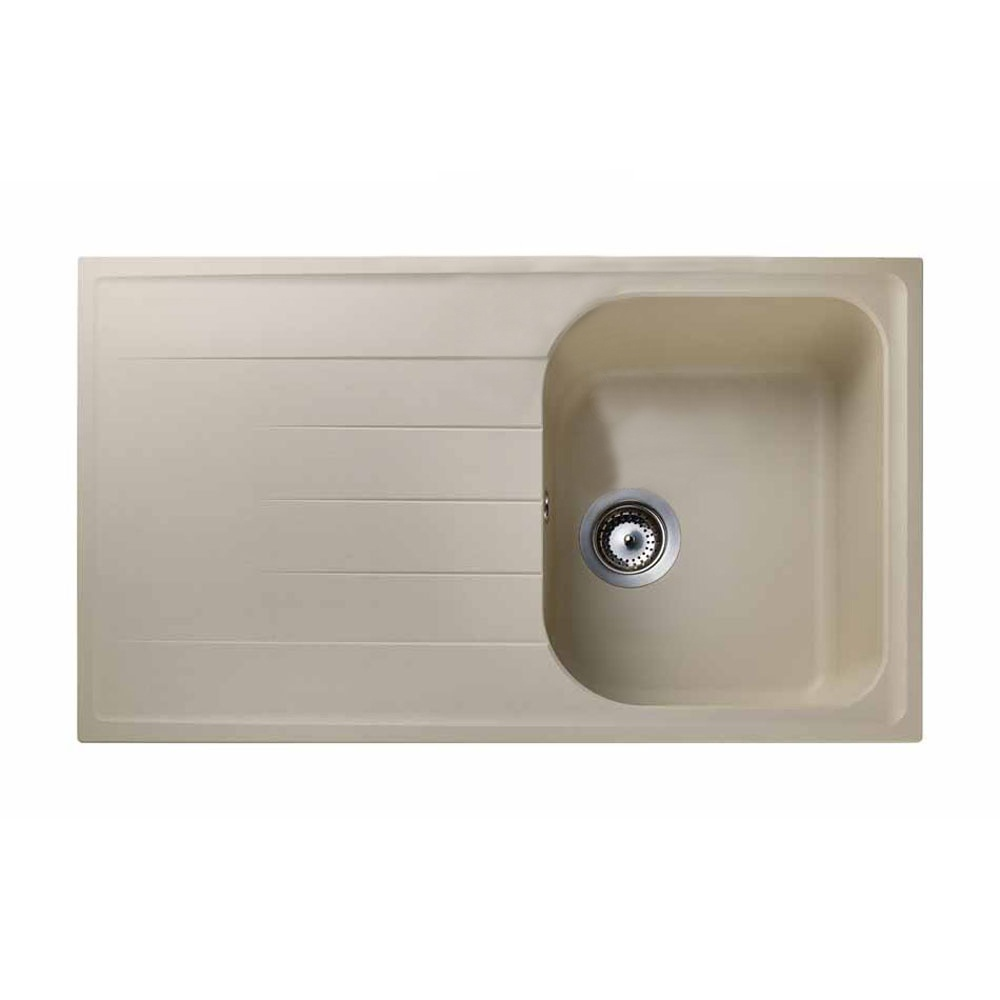 Rangemaster Amethyst 1.0 Bowl Granite Kitchen Sink - Stone Beige