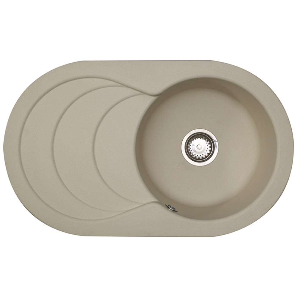 Astracast Cascade 1 Bowl Rok Granite Kitchen Sink - Sahara Beige