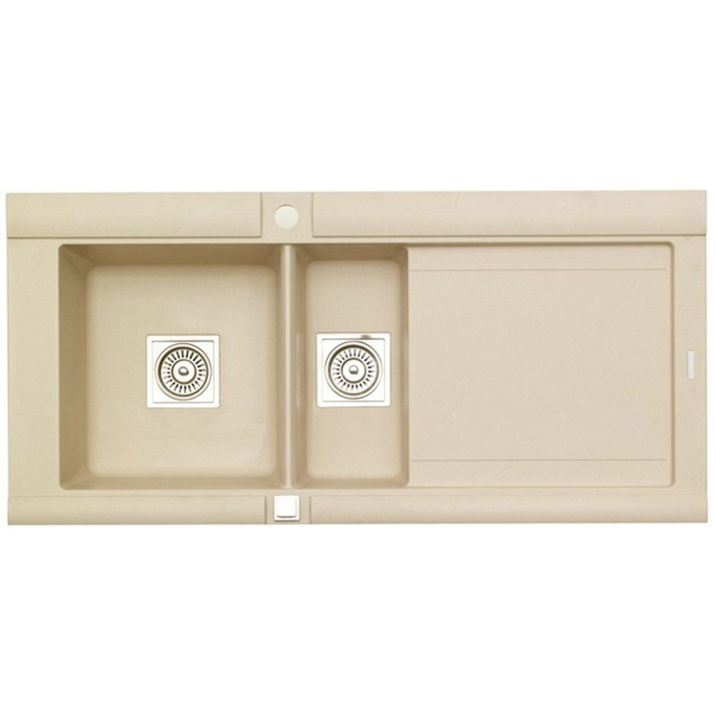Astracast Geo 1.5 Bowl Rok Granite Kitchen Sink - Sahara Beige - Right Handed