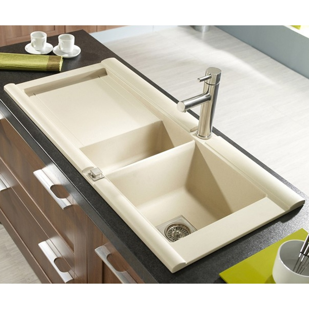 Astracast Geo 1.5 Bowl Rok Granite Kitchen Sink - Sahara Beige ...