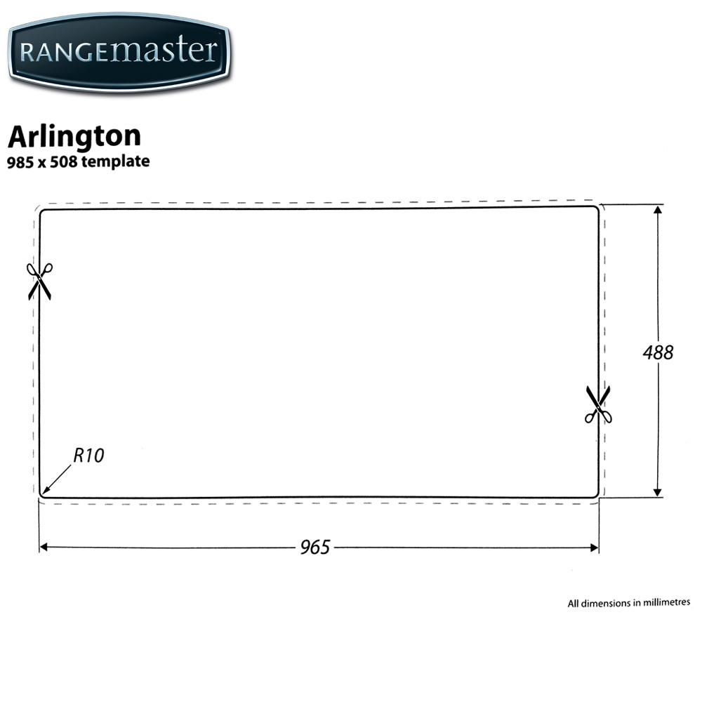 Rangemaster Arlington 1.5 Bowl Stainless Steel Kitchen Sink