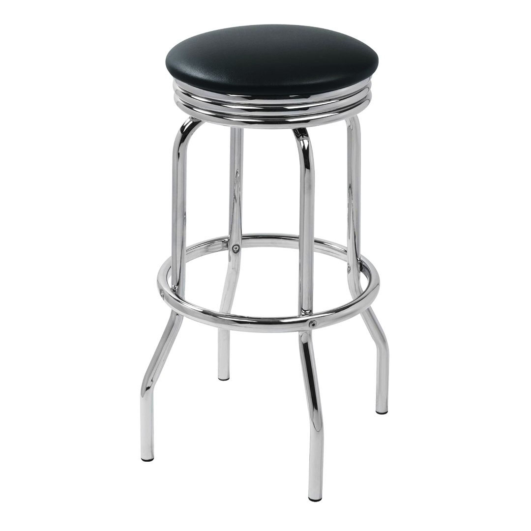 Retro Bar Stool - Black