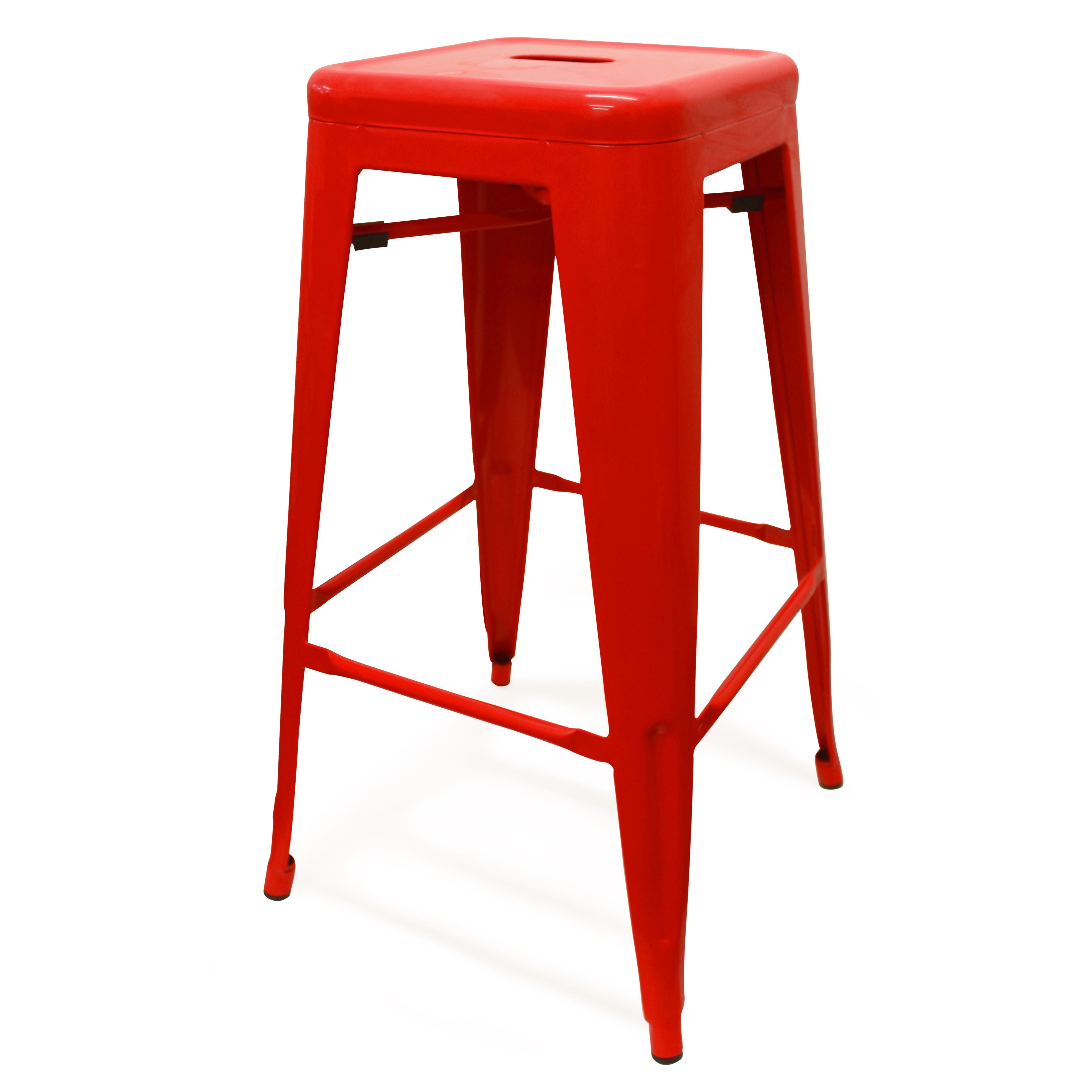 Set of 2 Oslo Bar Stools - Red