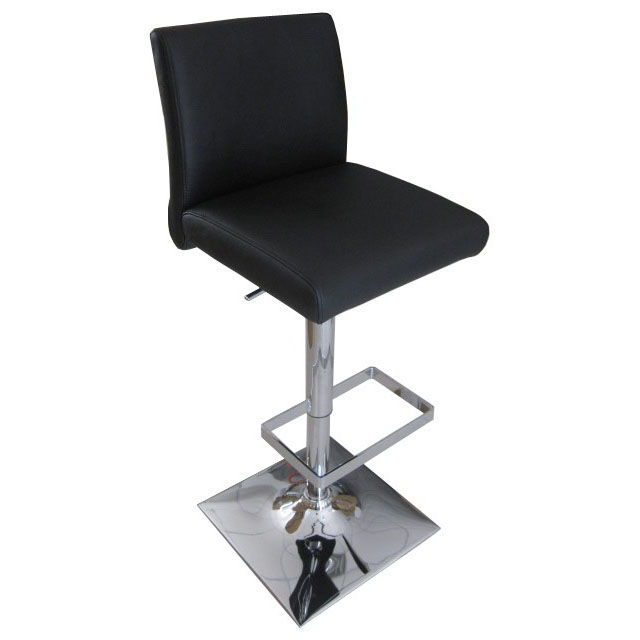 Snella Leather Bar Stool - Black