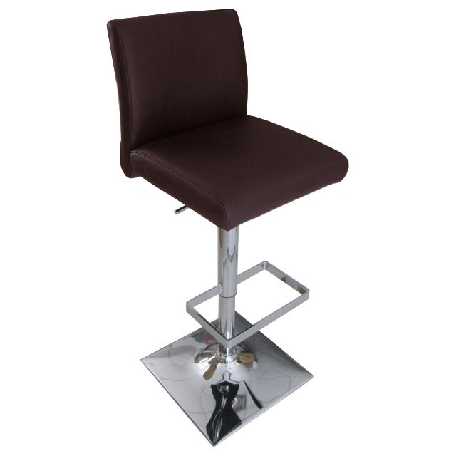 Snella Leather Bar Stool - Brown