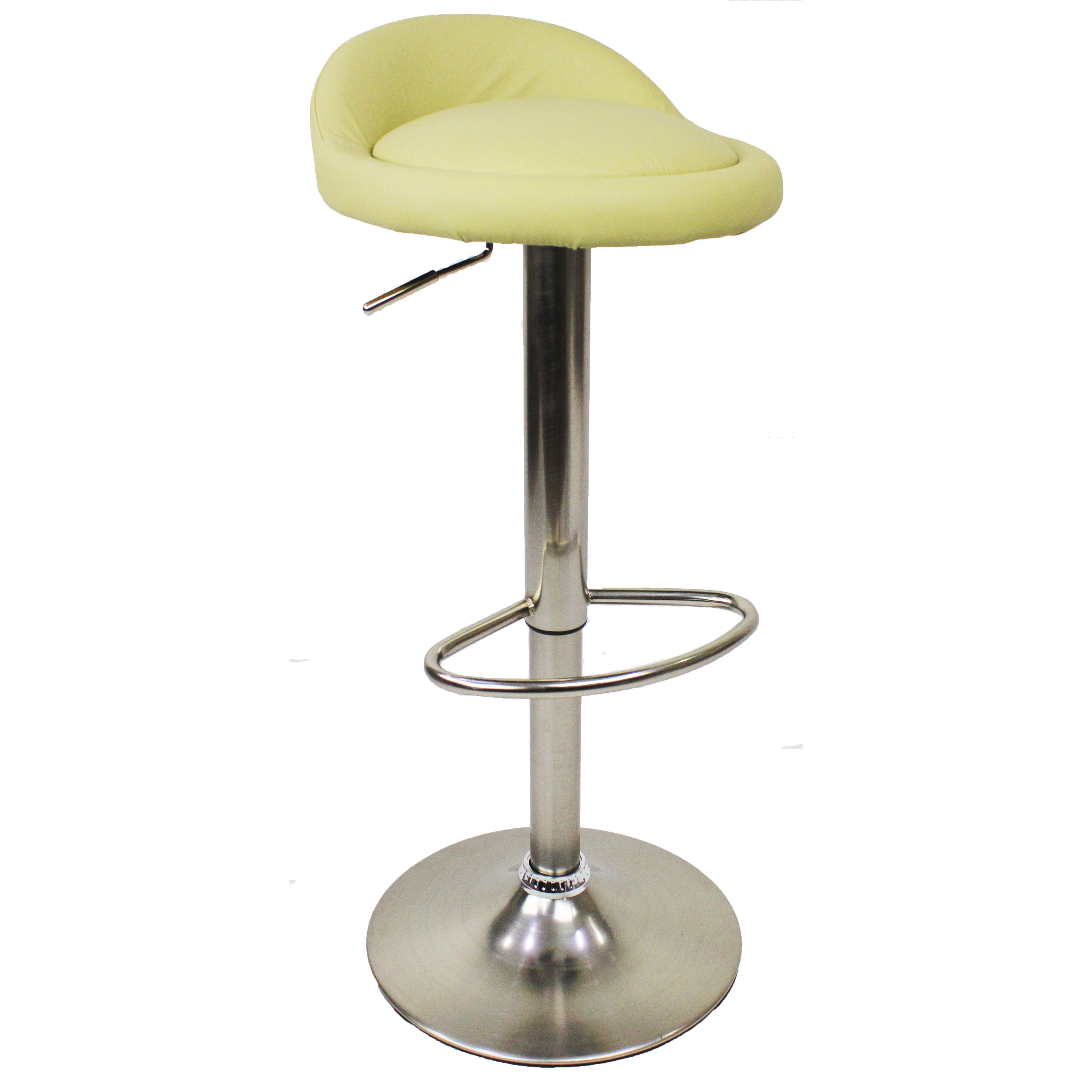 Sofia Leather Brushed Bar Stool - Cream