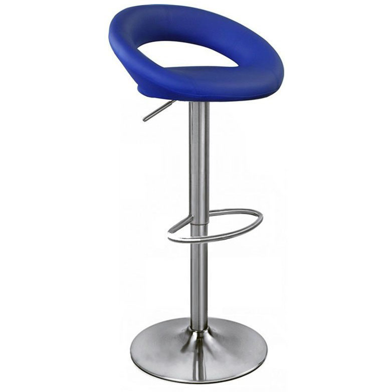 Sorrento Kitchen Brushed Bar Stool - Blue