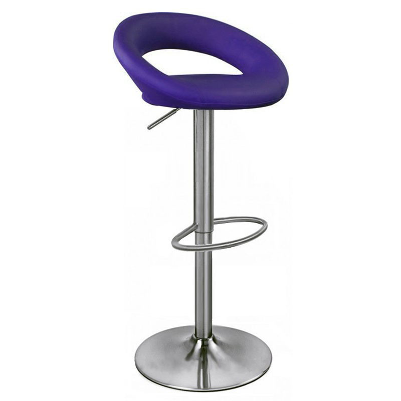 Sorrento Kitchen Brushed Bar Stool - Purple