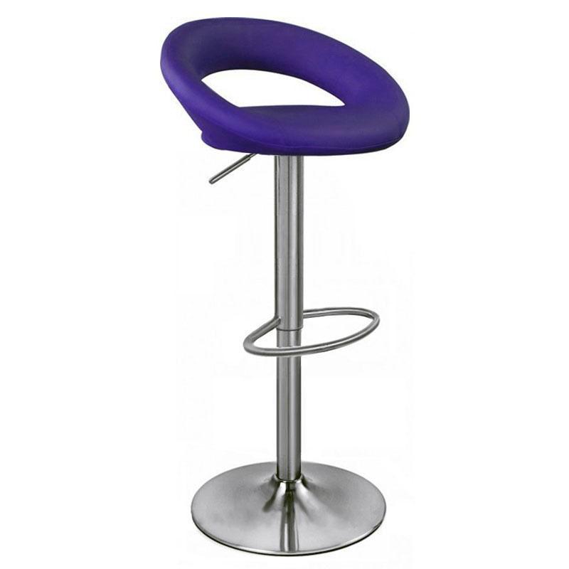 Sorrento Kitchen Brushed Bar Stool - Purple size: x 540mm ...