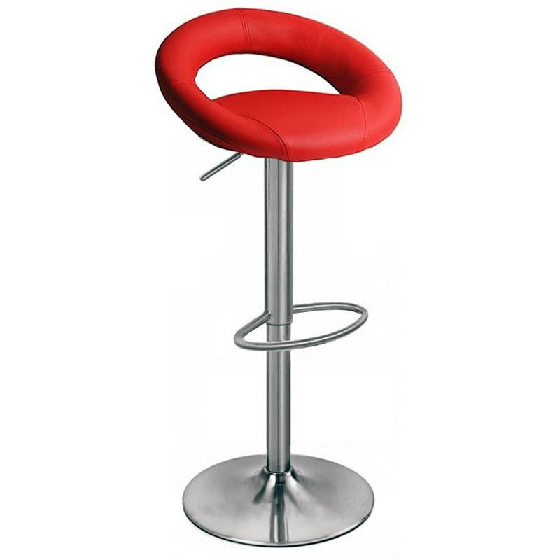 Sorrento Kitchen Brushed Bar Stool - Red Product Image