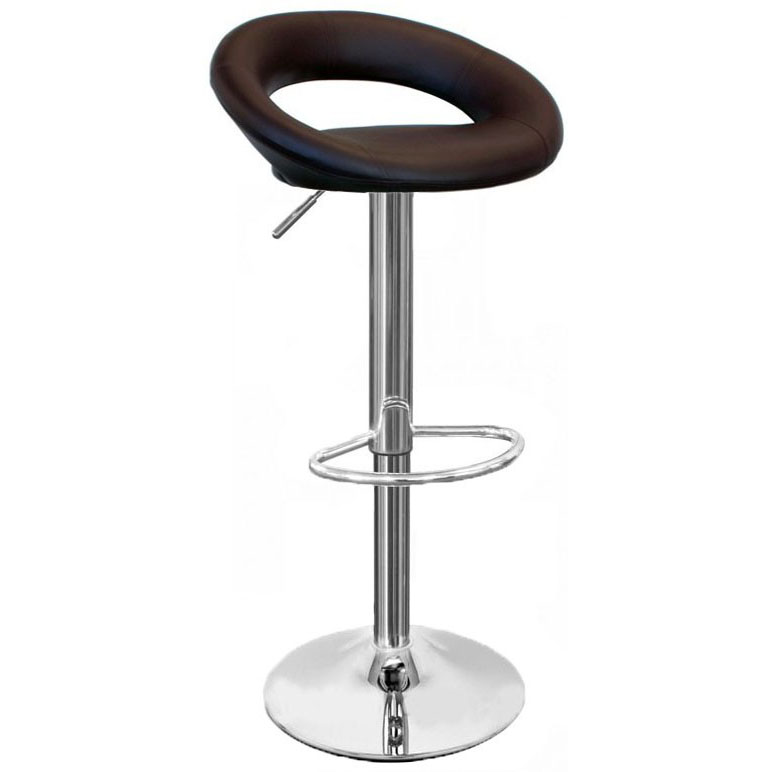 Sorrento Leather Bar Stool - Brown
