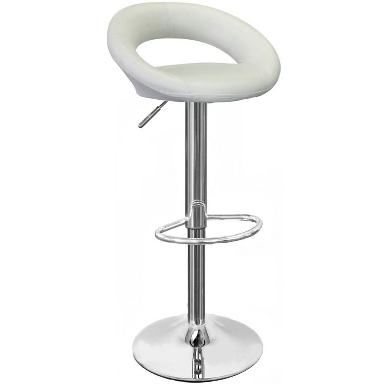 Sorrento Leather Bar Stool - White