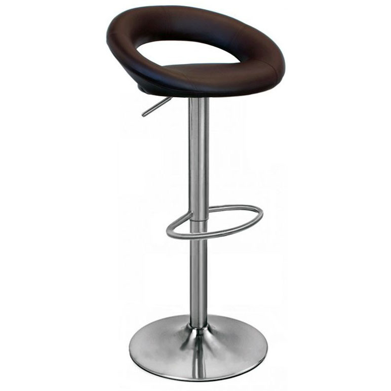 Sorrento Leather Brushed Bar Stool - Brown