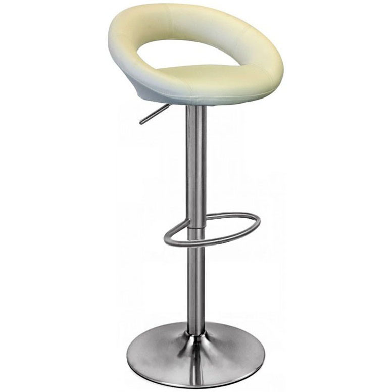 Sorrento Leather Brushed Bar Stool - Cream