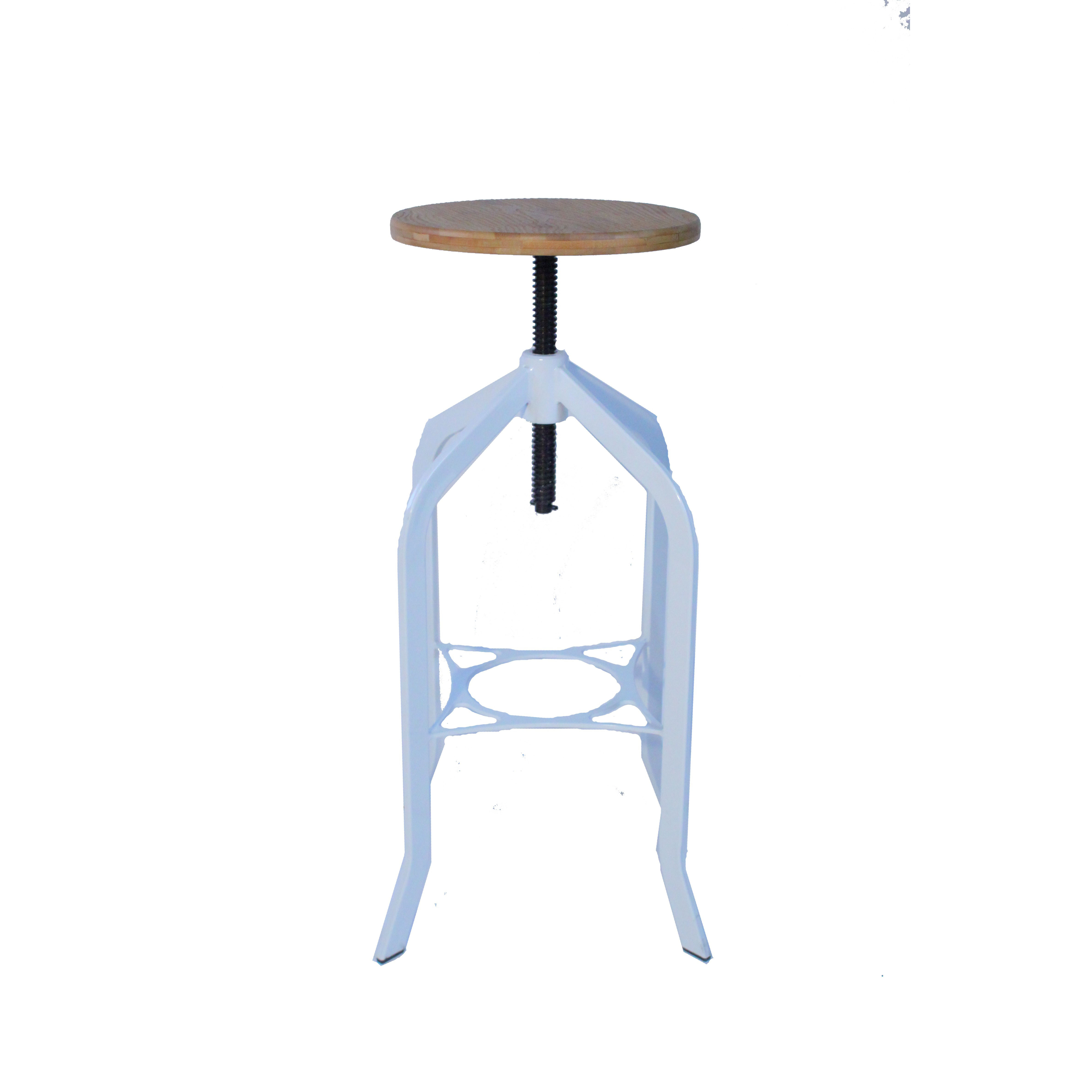 Trento Vintage Bar Stool - White Product Image