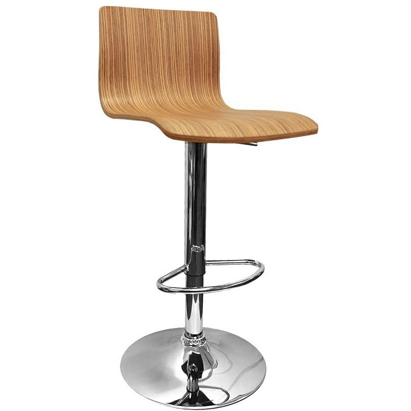 Venezia Bar Stool - Zebrano Product Image