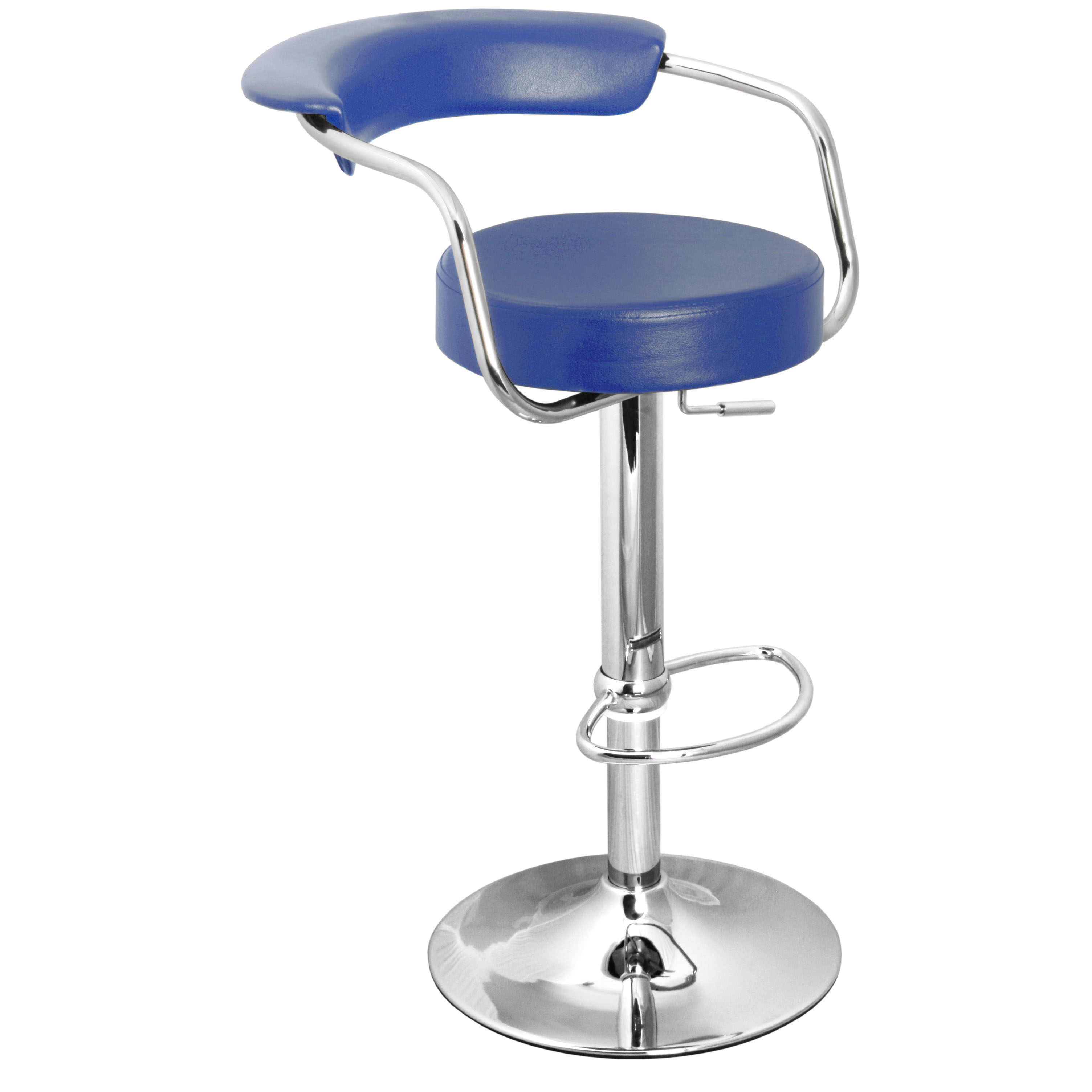 Zenith Bar Stool with Arms - Blue