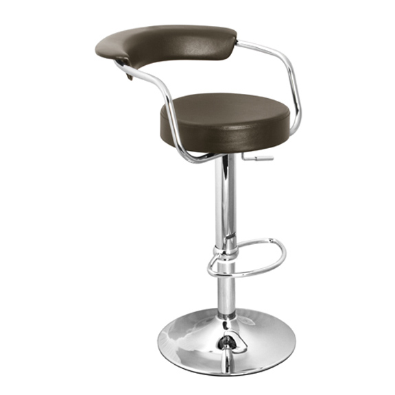 Zenith Bar Stool with Arms - Brown