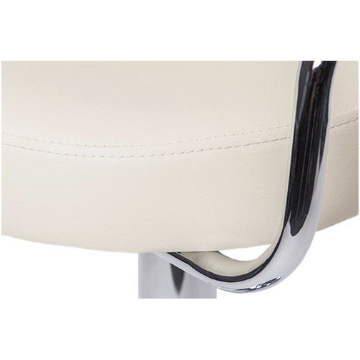 Zenith Bar Stool with Arms - Cream