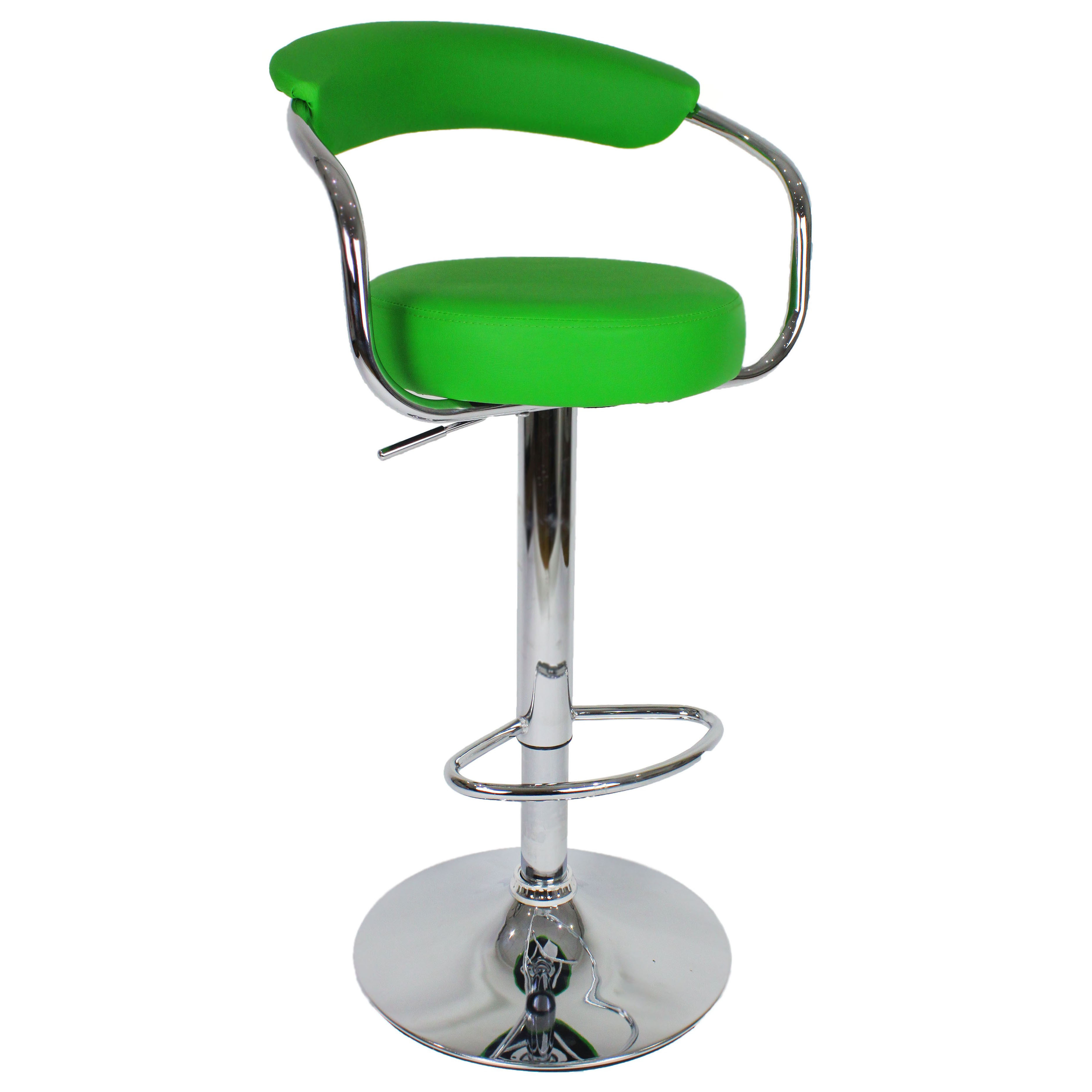 Zenith Bar Stool with Arms - Green
