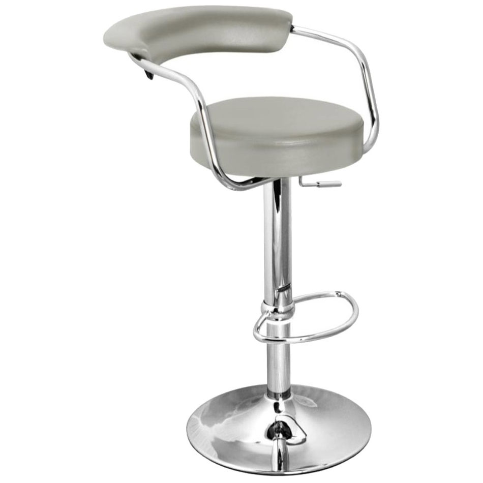 Zenith Bar Stool with Arms - Grey