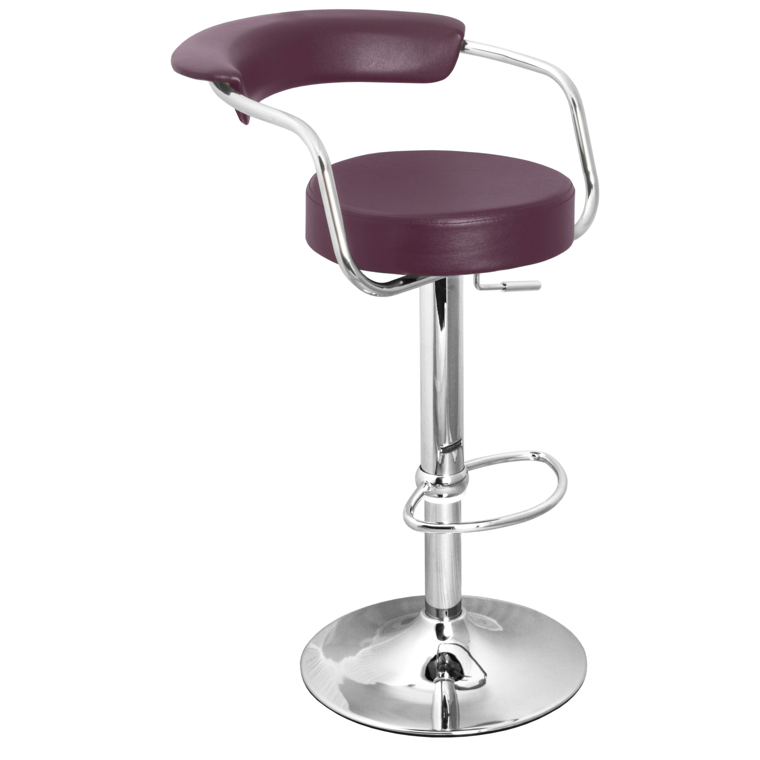 Zenith Bar Stool with Arms - Purple
