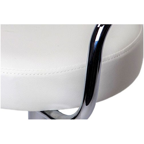 Zenith Bar Stool with Arms - White