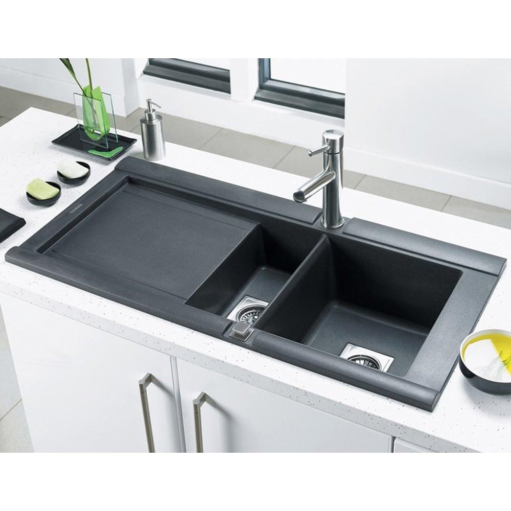 astracast geo 1 5 bowl rok metallic granite kitchen sink   volcano black   left handed astracast geo 1 5 bowl rok metallic granite kitchen sink   volcano      rh   hcsupplies co uk