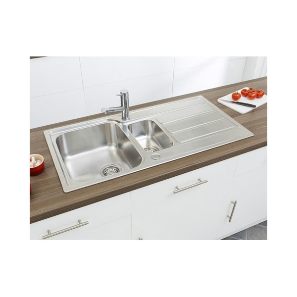 Astracast Linus 1.5 Bowl Stainless Steel Kitchen Sink