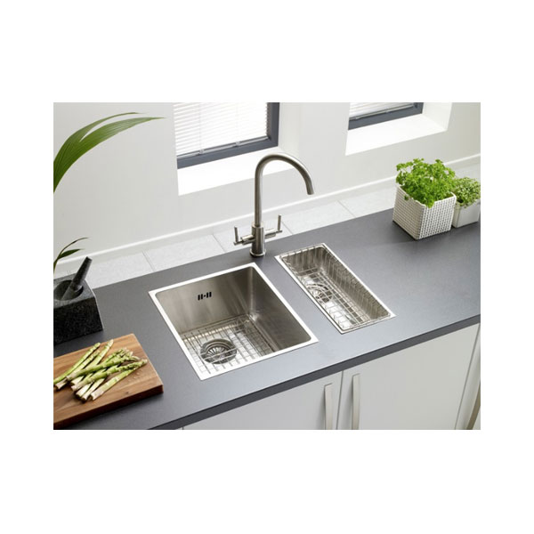 Astracast Onyx 4016 0.5 Bowl Stainless Steel Flush Inset Kitchen Sink