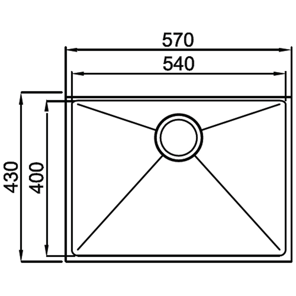 Astracast Onyx 4054 1 0 Bowl Stainless Steel Undermount
