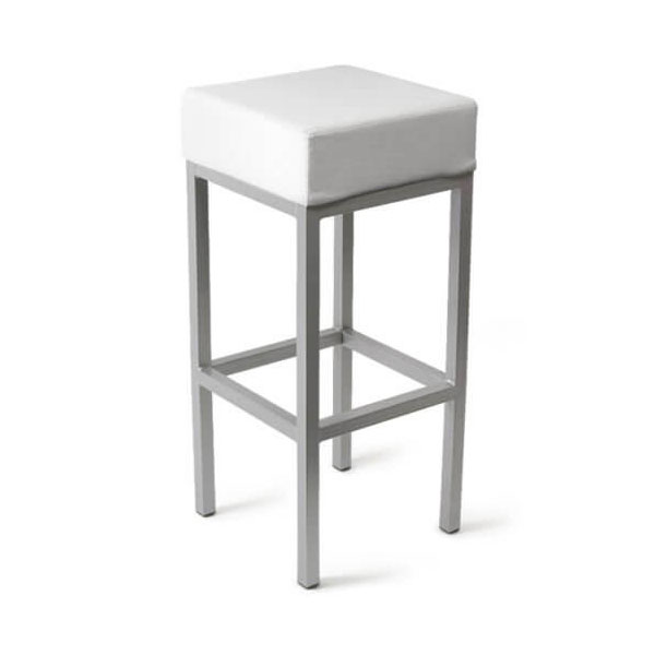 Cube Bar Stool White Product Image