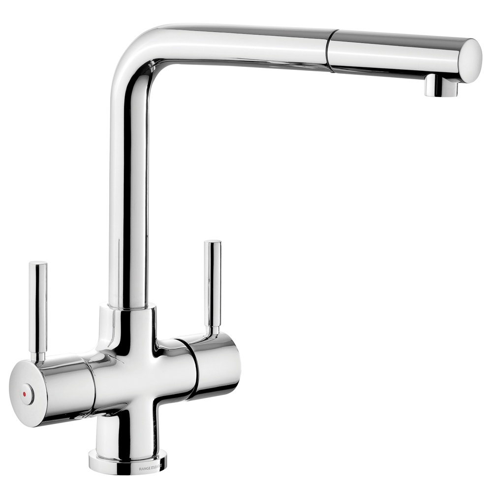 Rangemaster Aquadisc 5 Pull Out Chrome Stainless Steel Tap