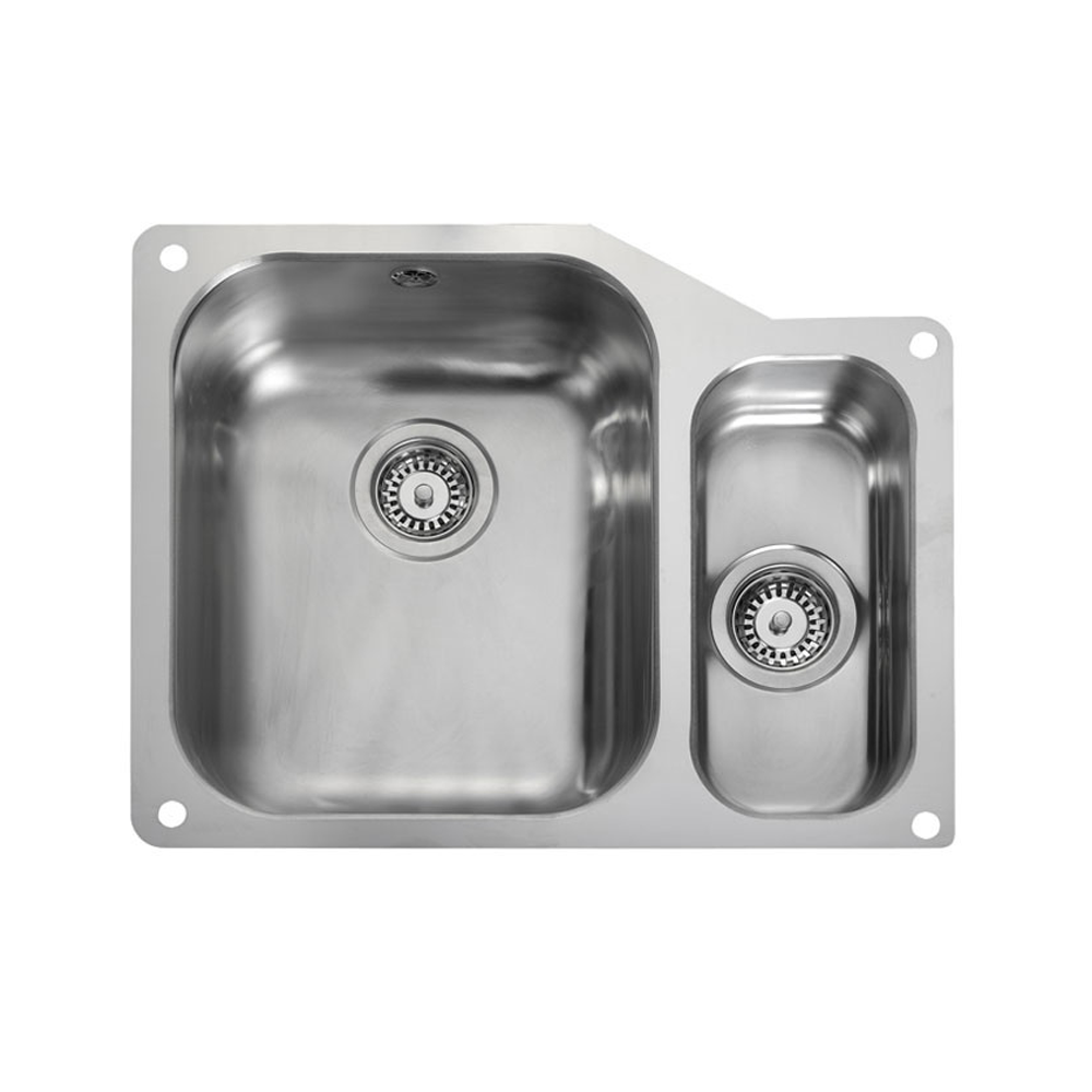 Rangemaster Atlantic Classic 1.5 Bowl Stainless Steel Undermount Sink UB3515R