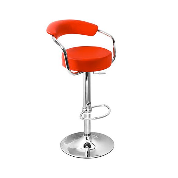 Zenith Bar Stool with Arms - Red Product Image