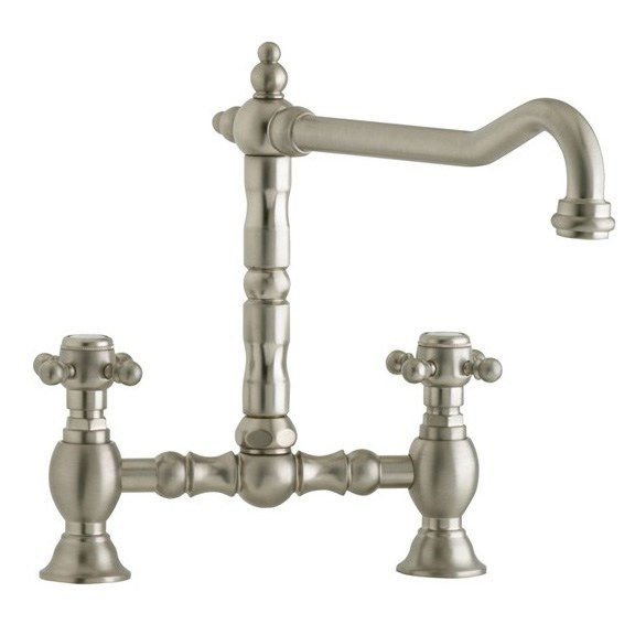 Astracast Camargue Bridge Nickel Stainless Steel Tap In Brushed