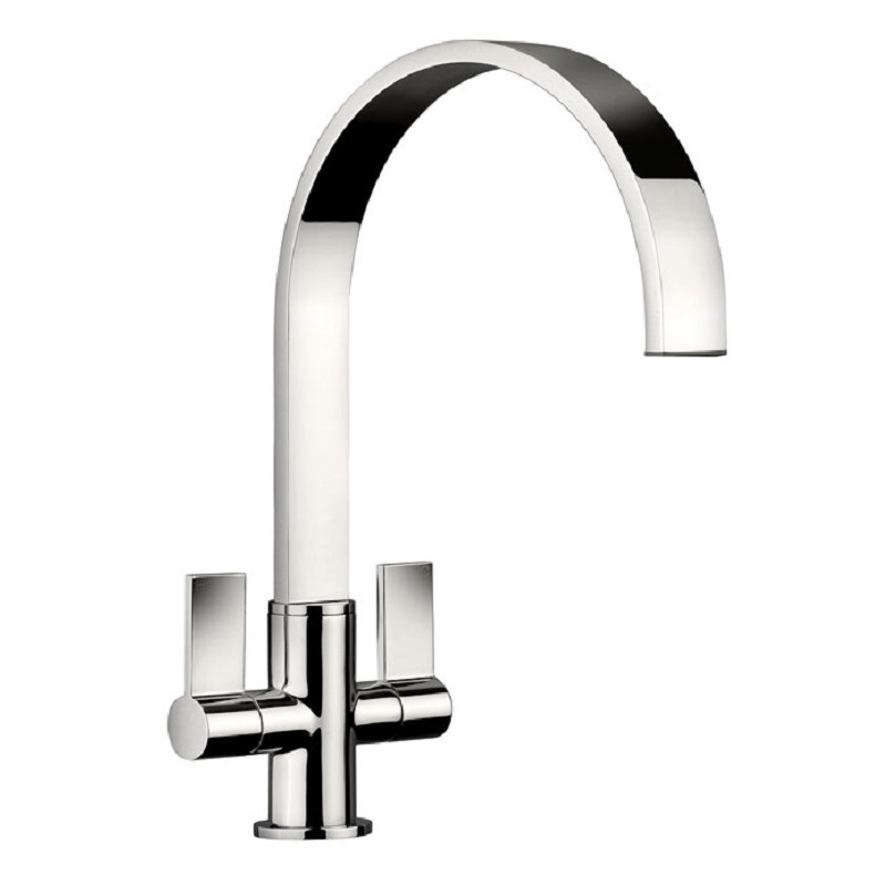 Rangemaster Aspire Twin Lever Chrome Tap