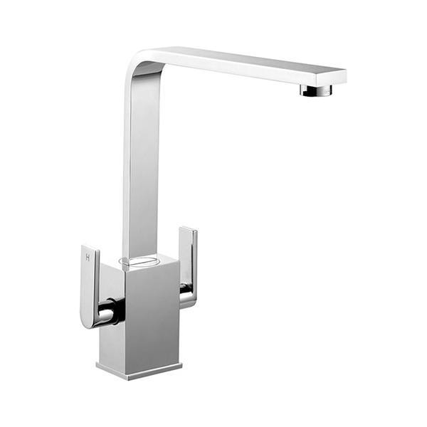 Rangemaster Quadrant Contemporary Brushed Stainless Steel Tap Product Image