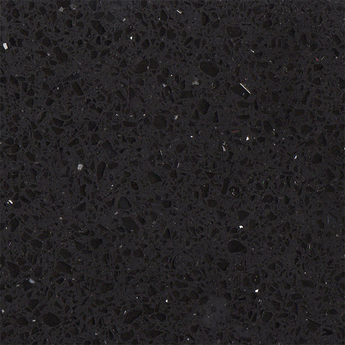 Simply Quartz Black Sparkle Quartz Kitchen Worktops