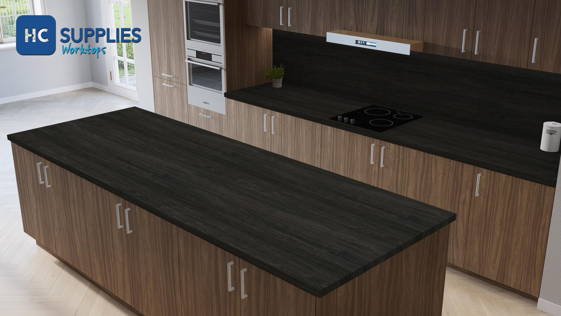 Kronodesign Carbon Marine Wood Super Matt Laminated Worktop