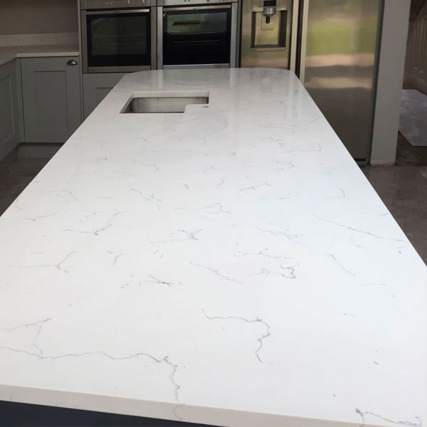 Pro Quartz Carrara White Made To Measure 20mm Thickness