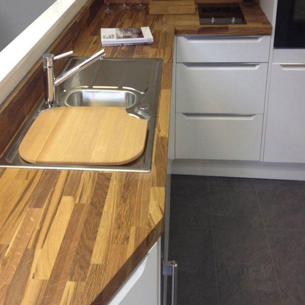 Kitchen Ideas Wooden Worktops: Solid Wood Upstands