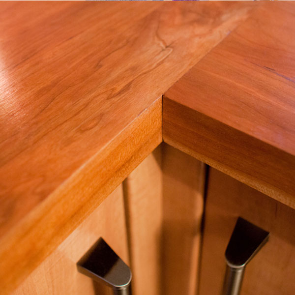 Solid Wood Cherry 40mm Stave Worktops