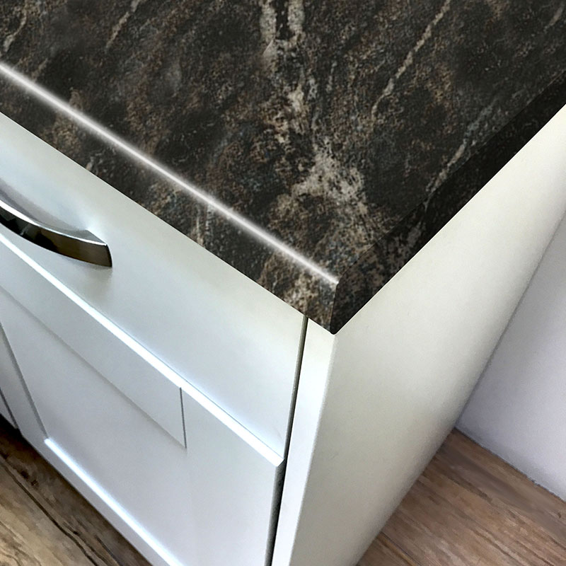 Axiom Black Storm Gloss Laminate Kitchen Worktops